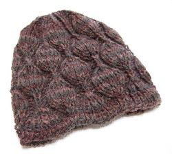 Balaclava Knitting Pattern Straight Needles : Knitting Patterns Galore - Embossed Leaves Hat
