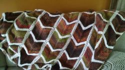 Bordered Chevron Blanket