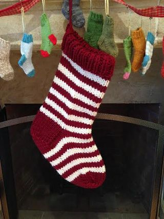 Knitting Patterns Galore Jumbo Christmas Stocking In A