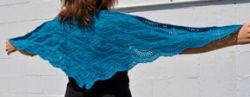 Panda Silk Fan Shawl