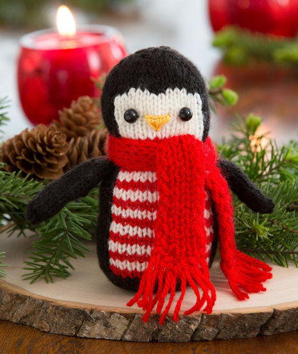 Knitting Patterns Galore Cheerful Holiday Penguin