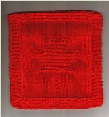 Garden Maple Leaf Knitted Dishcloth