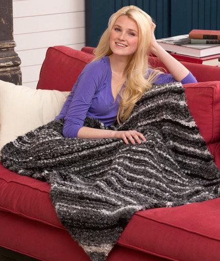 Knitting Patterns Galore Diagonal Garter Lap Throw
