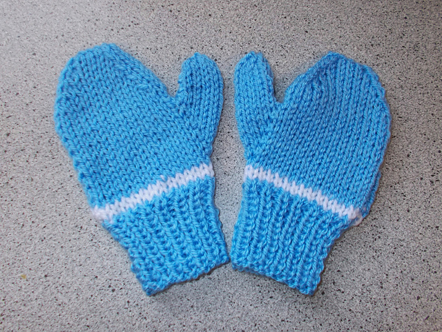 knitting patterns galore easy 2needle childs mittens