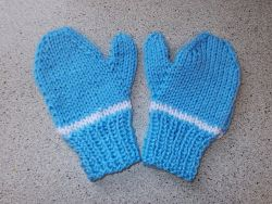 Easy 2-Needle Child's Mittens