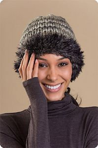 Fur-Brim Hat