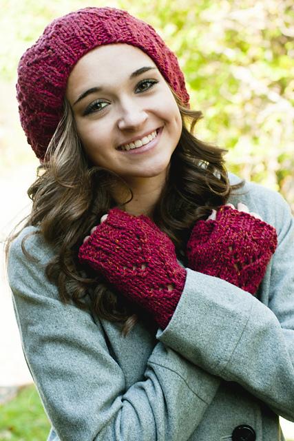 Knitting Patterns Galore - Tivoli Hat and Mitts