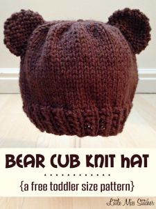 Bear Cub Toddler Hat