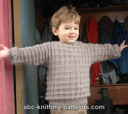 Knitting Patterns Galore Little Boys Cuff To Cuff Sweater