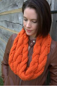 Cable Drop Stitch Cowl