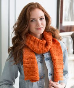 Beginner Garter Drop-Stitch Scarf