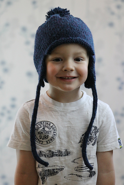 Knitting Patterns Galore All In The Family Earflap Hat