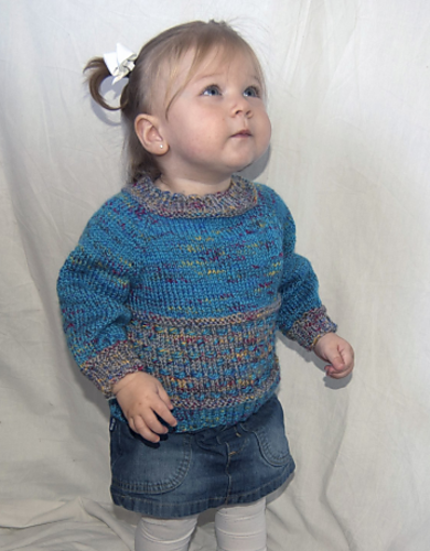 Knitting Patterns Galore - Dot and Dash Top-Down Baby Sweater