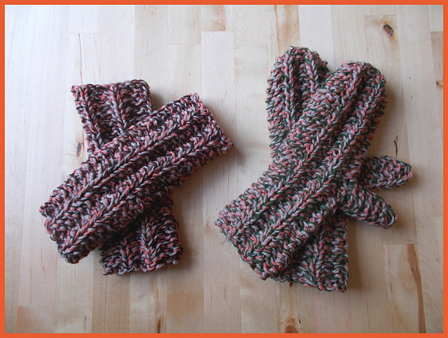Knitting Pattern For Warm Mittens : Knitting Patterns Galore - Warm Tweedy Mittens