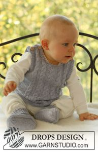 Baby Cabled Vest