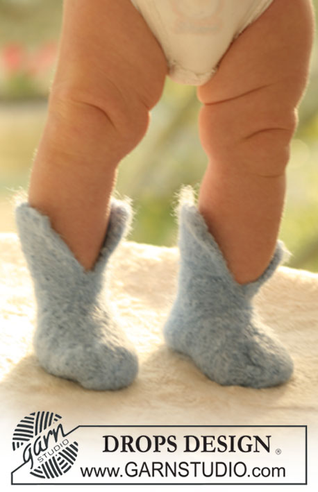 Knitting Patterns Galore Baby Felted Slippers