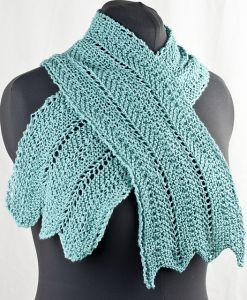 Chevron and Feather Scarf