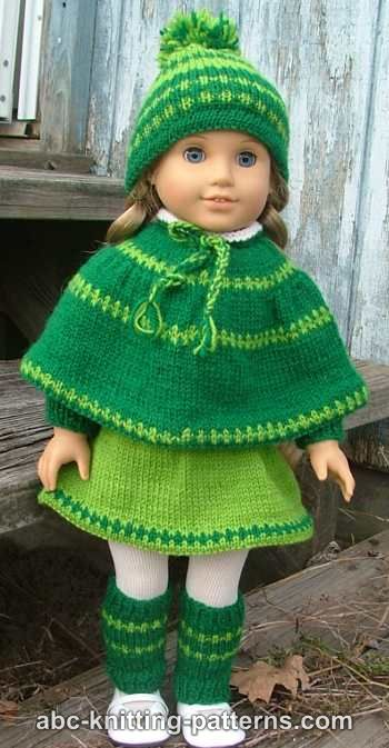 Free Knitting Patterns For American Dolls : Knitting Patterns Galore - American Girl Doll Christmas Carol Outfit (Skirt, ...