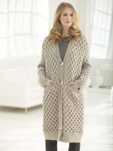 Chillingworth Cabled Long Cardigan