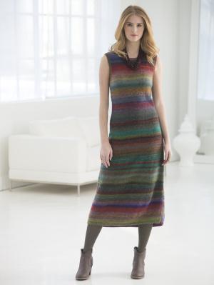 Knit long dress pattern