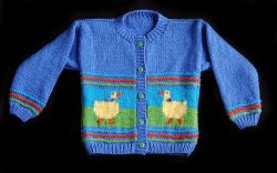 Children's Duck Cardigan