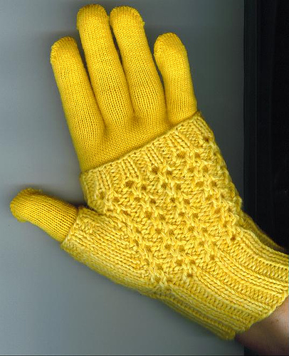 Knitting Patterns Galore Easy Lace Fingerless Mittens