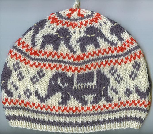 Knitting Patterns Galore - Elephant Hat