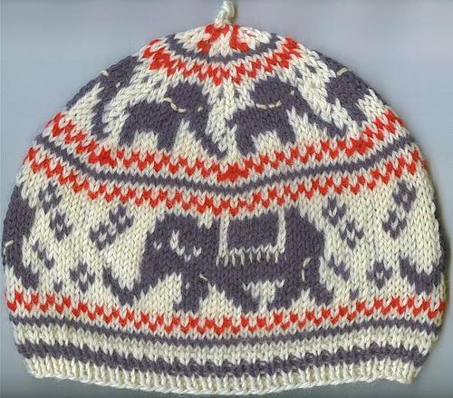 Knitting Patterns Galore - Elephant Hat