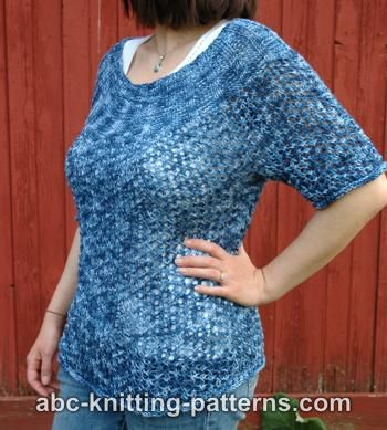 Knitting Patterns Galore Cool Breezes Summer Lace Sweater