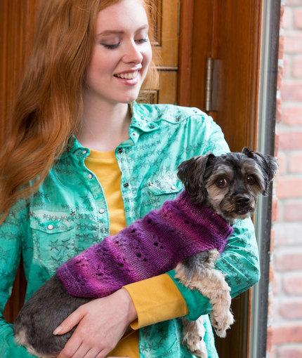 Knitting Patterns Galore Paw Print Dog Sweater