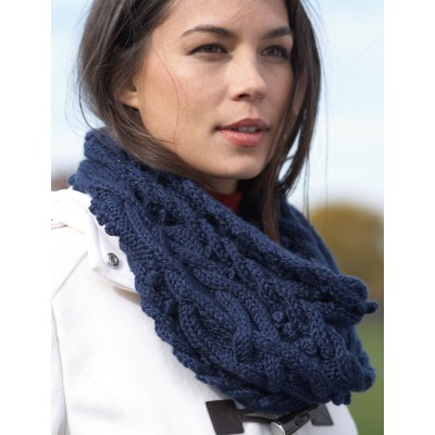 Knitting Patterns Galore Sumptuous Cable Cowl