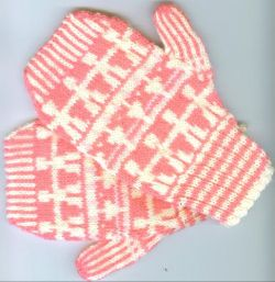 Paper Doll Mittens