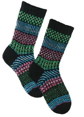 Knitting Patterns Galore Simple Stripes Fair Isle Socks