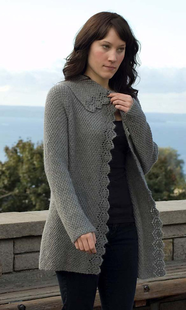 Knitting Patterns Galore Climbing Lace Cardigan
