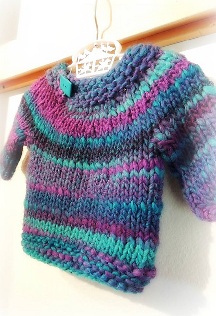 Knitting Patterns Galore Baby : Knitting Patterns Galore - Wheee...a Sweater for Baby