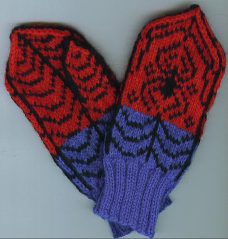 Knitting Patterns Galore We Call Him Spidey Mittens