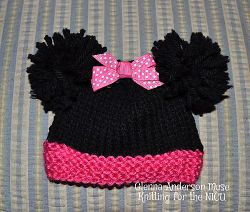 Minnie the Famous Mouse Preemie Hat