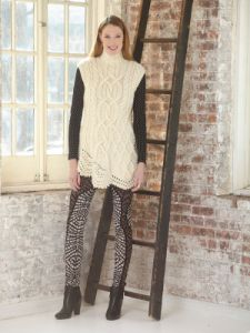 Asymmetric Cable Tunic
