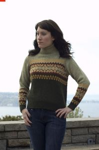 Colorblock Fair Isle Pullover