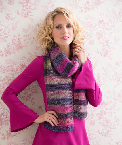 Knitting Patterns Galore Striped Shaded Scarf