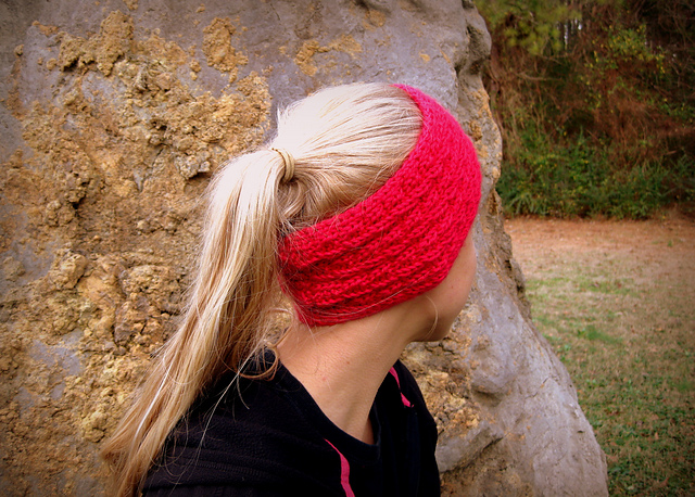 Knitting Patterns Galore - Fishtail-Cable Headwarmer