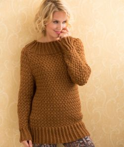 Aran Basket Stitch Sweater
