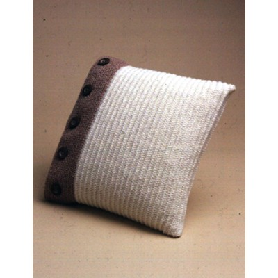 Knitting Patterns Galore Buttoned Up Pillow