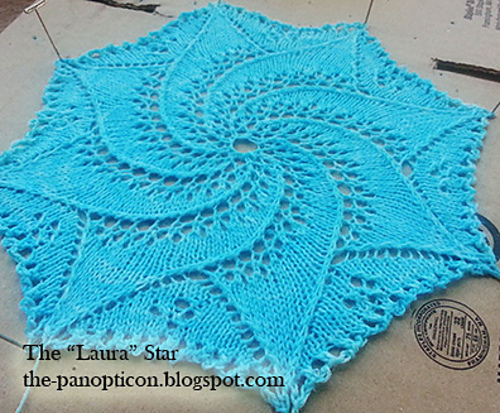 Knitting Patterns Galore Laura Star Doily