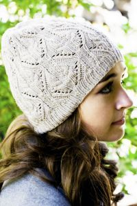 Lace and Cable Hat