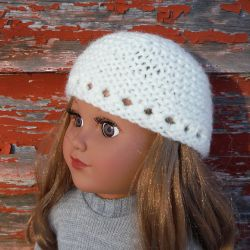 Garter Stitch Hat for American Girl Doll