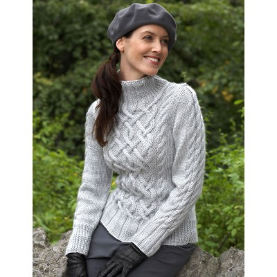 Knitting Patterns Galore - Sterling Cables Sweater