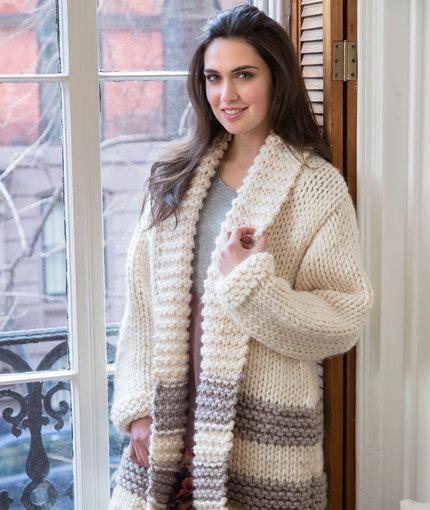 Knitting Patterns Galore Cozy Car Coat