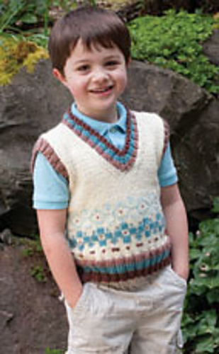 Knitting Patterns Galore Dressing For Style In Fair Isle His Vest