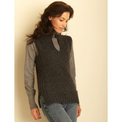 Knitting Patterns Galore Cable Vest
